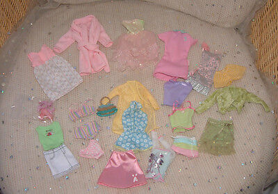 Barbie clothes bundle PRETTY PASTELS dress skirt shorts cardigan underwear shoes