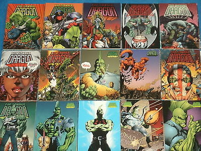 THE SAVAGE DRAGON Complete Base Set Of 90 Trading Cards (Image/Wildstorm Comics)