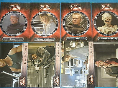 DOOM 'The Movie' Complete Base Set Of 72 Trading Cards The Rock,Zombies?,Game