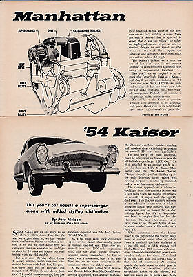 1954 Kaiser Manhattan & '54 Willys Ace - 2 Separate Road Tests Loaded Wtih INFO