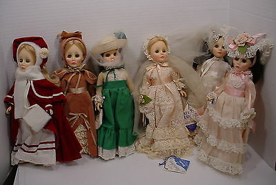 6 Vintage Effanbee Dolls 4 Seasons Plus  2 Others Bride Crown Princess
