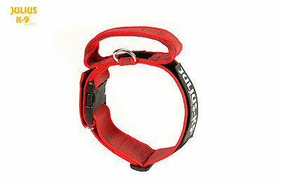 Julius-K9® Dog Collar with Closable Handle Safety Lock Color&Gray FREE UK P&P