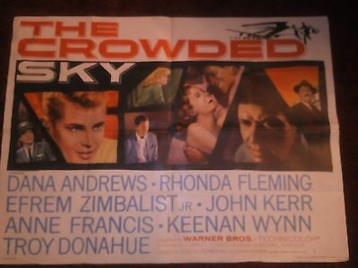 The Crowded Sky Original film poster 1960