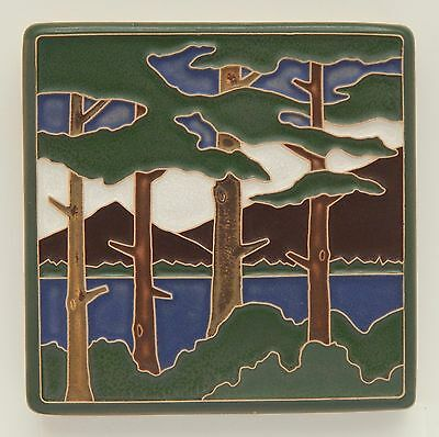 4x4 Arts & Crafts Lake Tahoe Pines Tile by Arts & Craftsman Tileworks