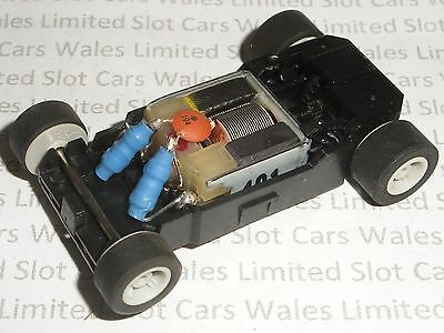 MICRO Scalextric - Rolling Chassis Black - Narrow (Grey Wheels) - NEW