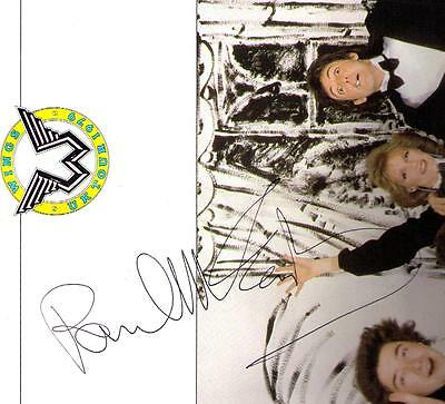 PAUL McCARTNEY SIGNED WINGS U.K TOUR PROGRAME 1979 GREAT AUTOGRAPH THE BEATLES