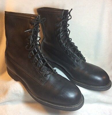 7f99f5bd67410 NEW 1994 WOLVERINE Worldwide Black Leather Steel Toe Combat Boots Mens Sz  11R