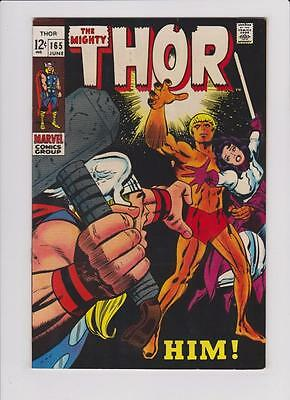 High Grade Marvel Comic: 1969 The Mighty Thor # 165 1ST First HIM ! Key   (G088)
