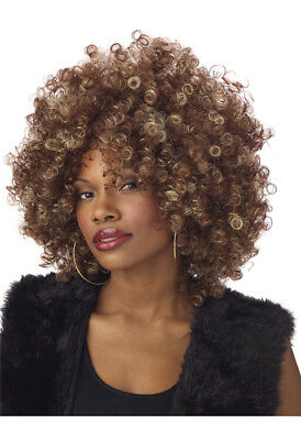 Brand New Fine Foxy Fro Disco Halloween Costume Wig