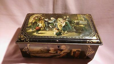 Vintage Advertising Sweet/biscuit Tin Chest With  Great Pictures On In Vgc.
