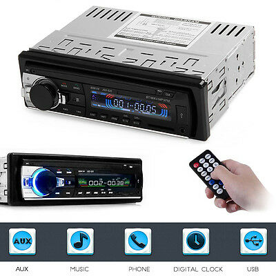 JSD - 520 Car Bluetooth In-dash Lettore MP3 Aux Radio FM stereo Audio Player