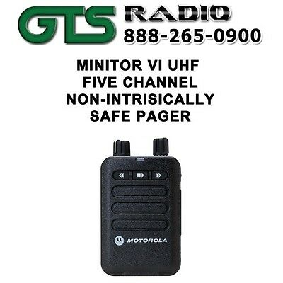 MOTOROLA MINITOR VI (6) UHF 5 CHANNELSTORED VOICE EMS & FIRE PAGER 450-486 MHz