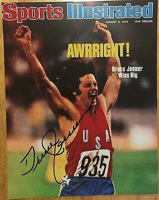BRUCE (Caitlyn) JENNER Signed Autographed Sports Illustrated Cover 8x10 Photo