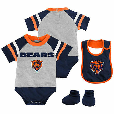 Chicago Bears Baby Infant Creeper Bib Booties Set (FREE SHIPPING) 0-3 months