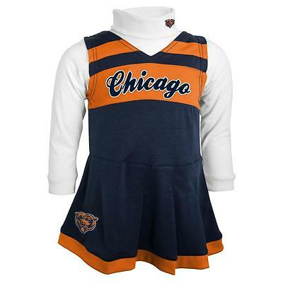 Chicago Bears Infant Girl Cheerleader Turtleneck Dress (FREE SHIPPING) 24 months