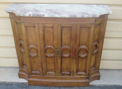 57074 Mastercraft?  Marble Top Mid Century Credenza Console Buffet Bar Cabinet