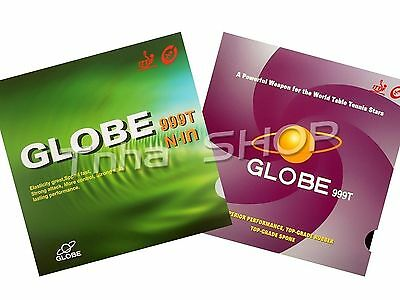 2x Globe 999T Pips-In Table Tennis Rubber/ Sponge, NEW!