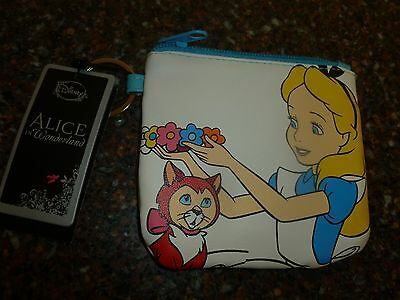"Disney Alice in Wonderland & Dinah the Cat 4.5"" X 4"" Coin Purse Loungefly NWT"