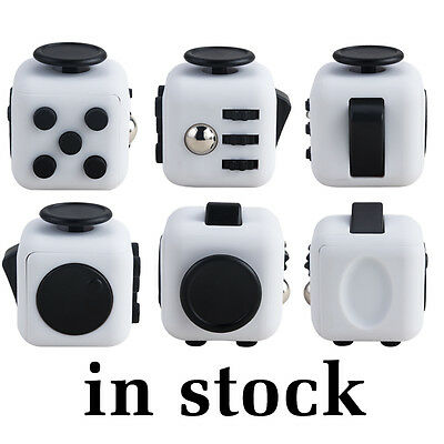 Fidget Cube Cubes Anxiety Stress Relief Better Focus Toy Canada White Black