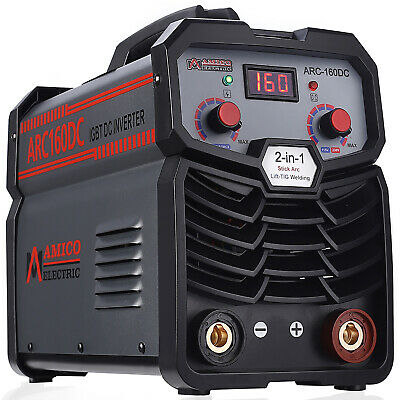 TIG-160DC, 160 Amp TIG Torch Stick Arc DC Welder 110V/230V Inverter Welding New