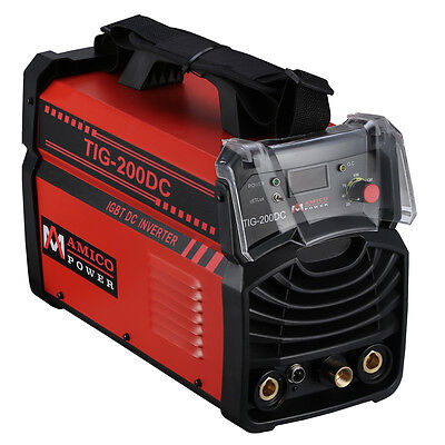 TIG-200DC, 200 Amp TIG Torch, Stick ARC DC Inverter Welder 115/230V Welding New