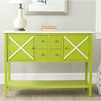Safavieh American Homes Collection Adrienne Sideboard, Lime Green