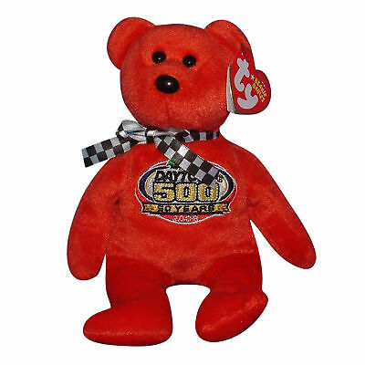 Ty Beanie Baby Racing Gold Red - MWMT (Bear Nascar 2008)