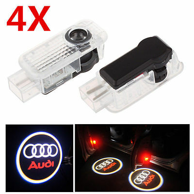 4x LED Logo Car Door Courtesy Laser Ghost Shadow Light Projector for Audi A4 Q7