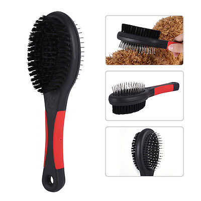 Double-Sided Pet Brush Dog Cat Rabbit Hair Comb Grooming Fur Plastic + Steel WY