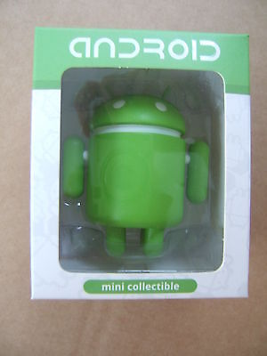 "ANDROID MINI COLLECTIBLE: GREEN VINYL 3"" FIGURE Google robot mobile mascot"