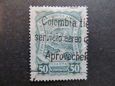 A3P25 Colombia Air Post Scadta 1923-28 50c used #27