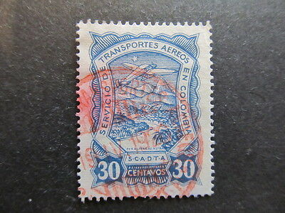 A3P25 Colombia Air Post Scadta 1923-28 30c used #34
