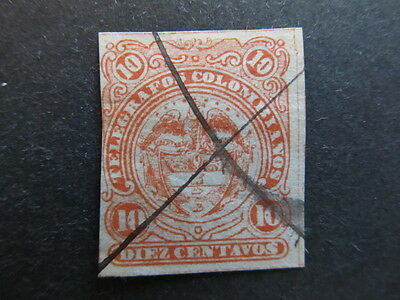 A3P25 Colombia Telegraph Stamp 1881 10c used #19