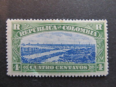 A3P25 Colombia Registration Stamp 1917 4c mh* #15