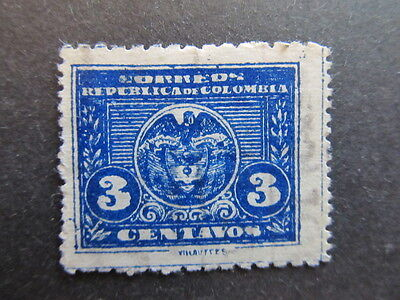 A3P25 Colombia 1924-25 3c used #10
