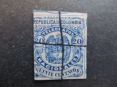 A3P25 Colombia Telegraph Stamp 1888-1905 20c used #20