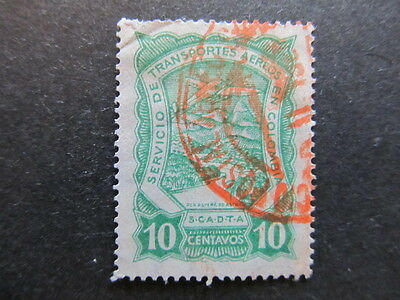 A3P25 Colombia Air Post Scadta 1923-28 10c used #31