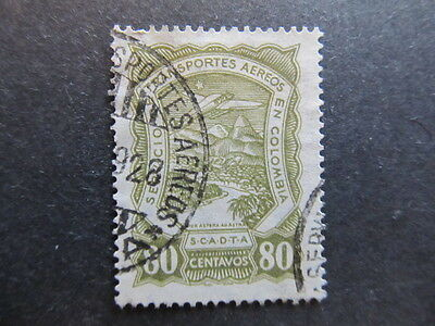 A3P25 Colombia Air Post Scadta 1923-28 80c used #36