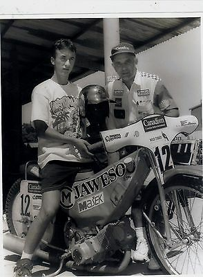 Ivan Mauger and ? Original Photograph Large 10 x 8 inch