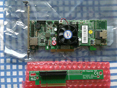 Areca ARC-1212 Raidcontroller Low Profile 4 Port SATA2/SAS PCI-E x8 + Riser Card