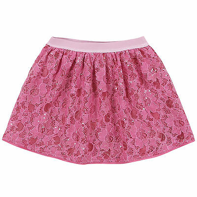 Monnalisa Baby Pink Sequinned Lace Skirt 2 Years