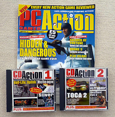 PC Action Magazine April 1999 + Cover CD x 2 + Half-Life Full Solution Booklet