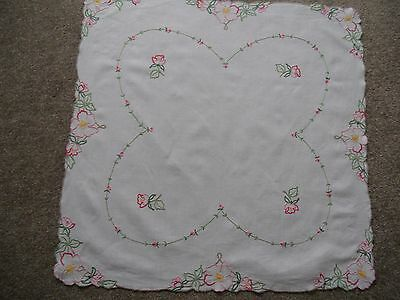 Hand embroidered Irish Linen Tablecloth 1950.s