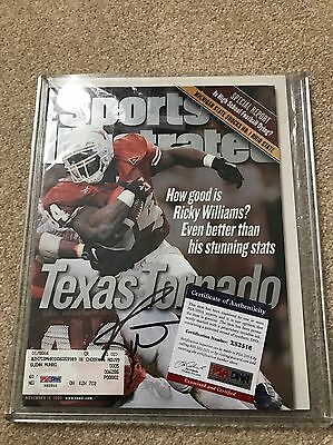 Texas Longhorns Signed Ricky Williams Sports Illustrated PSA/DNA COA Autographed