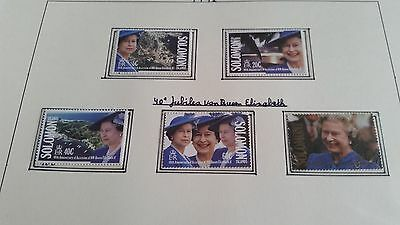 Solomon Islands 1992 Sg 713-717 40Th Anniv Of Queen  Mnh
