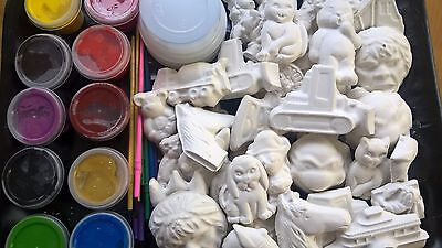 Plaster painting kit for 10 kids - ready to paint plaster mould/figurine