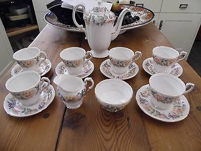 Paragon Country lane design coffee set, coffee pot, cups & saucers etc