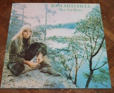 JONI MITCHELL * FOR THE ROSES * Classic 1973 Vinyl Album LP * First Press A1 B1