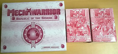 WizKids Mechwarrior 2x Darg Age Limited & 1x Republic of Sphere  (Mint, Sealed)