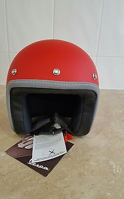 Vespa JET ROSSO Open Face Helmet MATT RED Medium